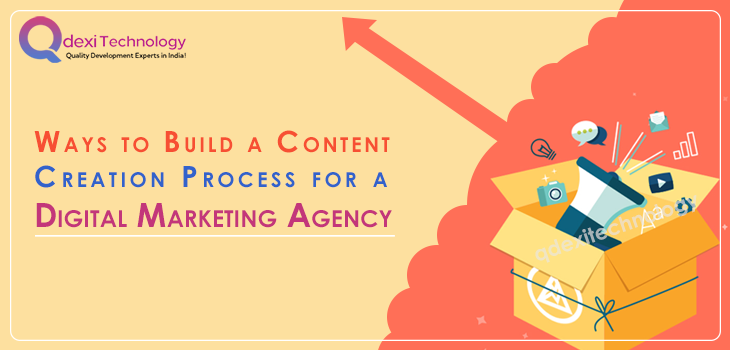 Content creation process for digital marketing agency