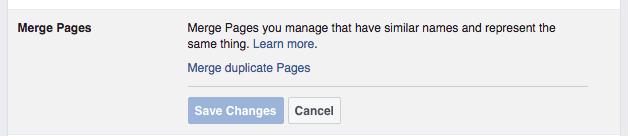 Merging Duplicate Facebook Pages