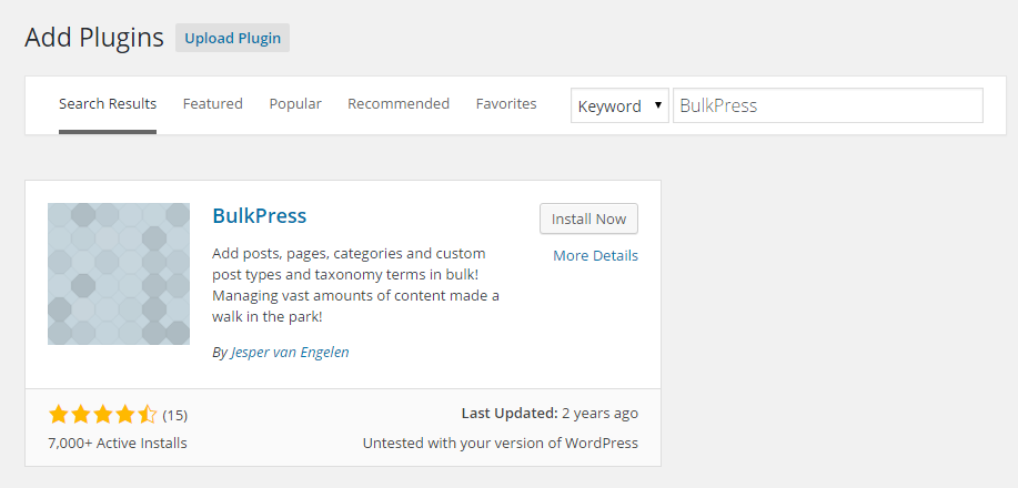 How to use BulkPress for your own website