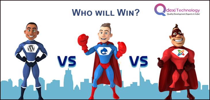 Drupal vs Joomla vs WordPress