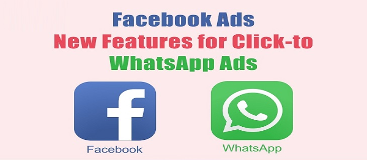 WhatsApp Chat Options in Facebook Advertisement